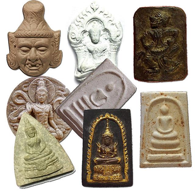 Muan Sarn Sacred Powder Clay Amulets