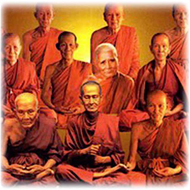 Great Thai Buddhist Guru Monks