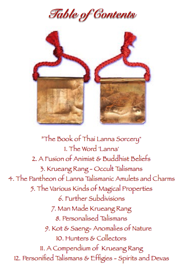 The Book of Thai Lanna Sorcery Contents 01