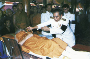 Bathing the Mummy of Luang Por Hyord