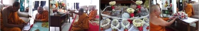 Empowerment Ceremony in the Uposatha at wat Laharn Yai
