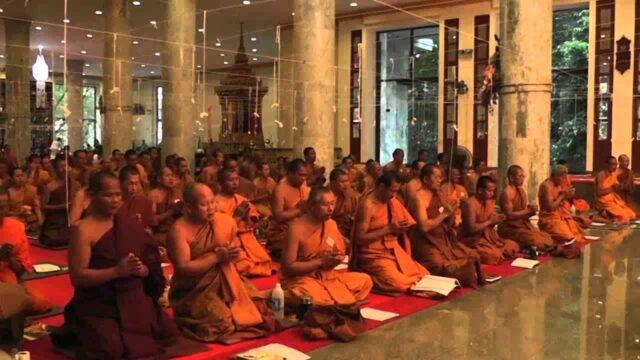 Thai Buddhist Monks Chanting