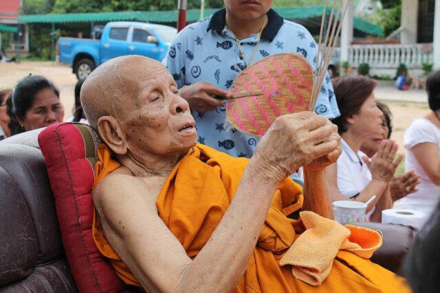 Luang Phu Panya in Buddha Abhiseka Ceremony Blessing Amulets