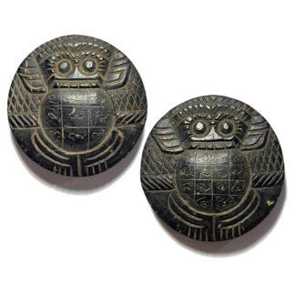 Pra Rahu Ongk Kroo 2 sided caqrved Eclipse God Amulet Phu Ya Tan Suan